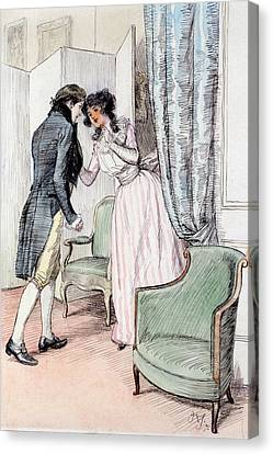 Fiction Canvas Print - Drawing Him A Little Aside by Hugh Thomson