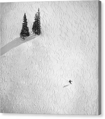 Downhill Canvas Print - Drawing His Own.. by Peter Svoboda