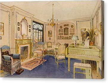 Drawing Room Adam Revival Style Canvas Print