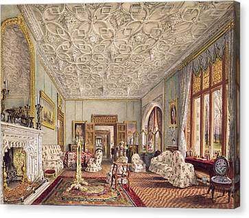 Drawing Room In The Gothic Style, C.1850 Canvas Print