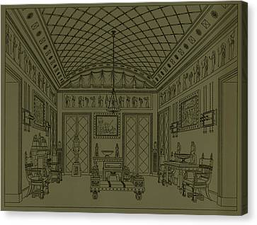 Drawing Room With Egyptian Decoration Canvas Print by