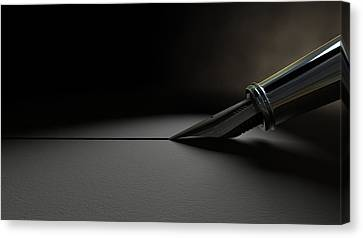 Drawing The Line Canvas Print by Allan Swart