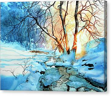 Snow Scene Canvas Print - Drawn To The Sun by Hanne Lore Koehler