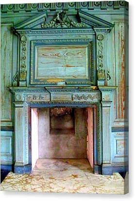 Drayton Hall Canvas Print - Drayton Fireplace 1 by Randall Weidner