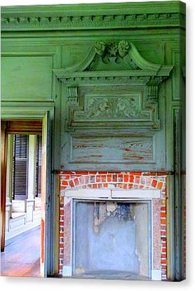 Drayton Hall Canvas Print - Drayton Fireplace 2 by Randall Weidner