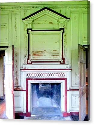 Drayton Hall Canvas Print - Drayton Fireplace 3 by Randall Weidner