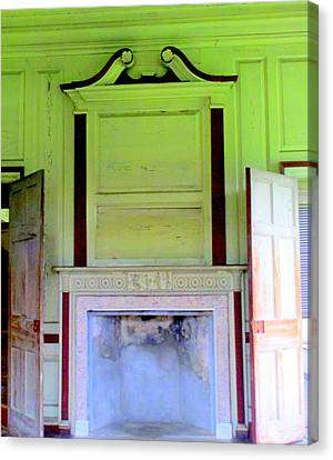 Drayton Hall Canvas Print - Drayton Fireplace 4 by Randall Weidner
