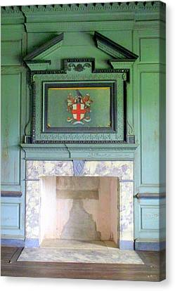 Drayton Hall Canvas Print - Drayton Fireplace 5 by Randall Weidner