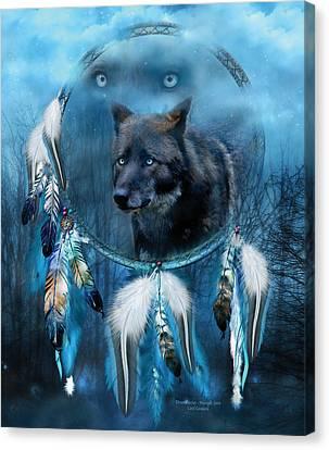 Dream Catcher - Midnight Spirit Canvas Print by Carol Cavalaris