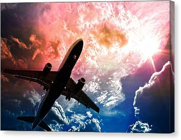 Airplanes Canvas Print featuring the photograph Dream Flight by Aaron Berg