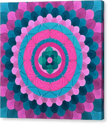 Dream Flower Mandala Canvas Print by Vlatka Kelc