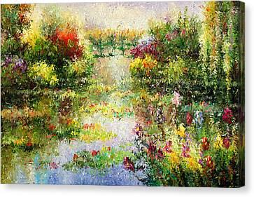 Dream Garden Canvas Print by Georgiana Romanovna