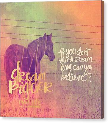 Dream Horse Canvas Print by Cassie Peters