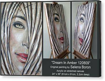 Canvas Print featuring the painting Dream In Amber 120809 Comp by Selena Boron