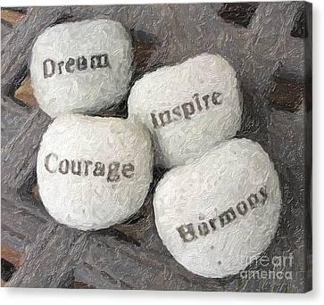 Dream Inspire Courage Harmony Canvas Print by Ed Churchill