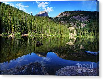 Dream Lake Rocky Mountain National Park Canvas Print by Wayne Moran