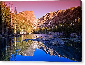 Dream Lake Sunrise Canvas Print by Brian Kerls