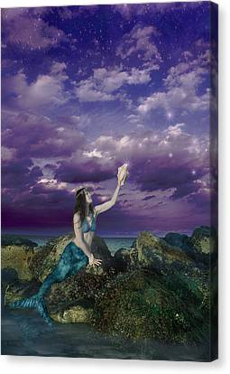 Dream Mermaid Canvas Print by Alixandra Mullins