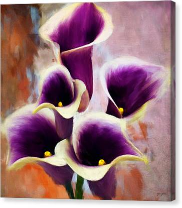 Dream Of Purple Canvas Print by Lourry Legarde