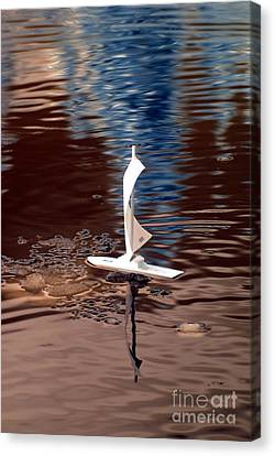 Canvas Print featuring the photograph Dream Of Sailing by Rebecca Parker