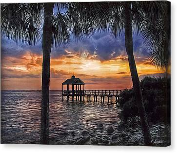 Canvas Print featuring the photograph Dream Pier by Hanny Heim