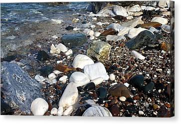 Canvas Print featuring the photograph Dream Rocks by Karen Horn