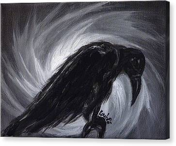 Dream The Crow Black Dream. Canvas Print by Rouble Rust
