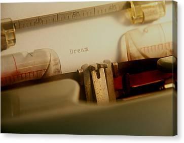 Dream Typewriter Print Canvas Print by Heather Allen