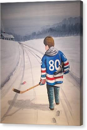 Dream Walking - 80 Olympics Canvas Print