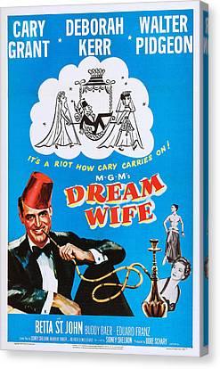 Betta Canvas Print - Dream Wife, Cary Grant Left, Deborah by Everett