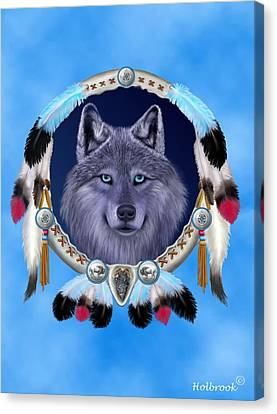 Dream Wolf Canvas Print by Glenn Holbrook