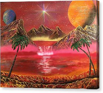 Canvas Print featuring the painting Dream World by Michael Rucker