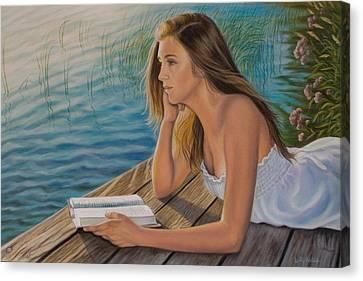 Dreamer Canvas Print by Holly Kallie