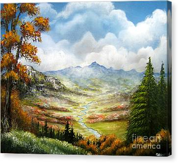 Canvas Print featuring the painting Dreamin On by Patrice Torrillo