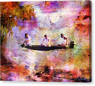 Dreaming About Fishing Canvas Print by J Larry Walker
