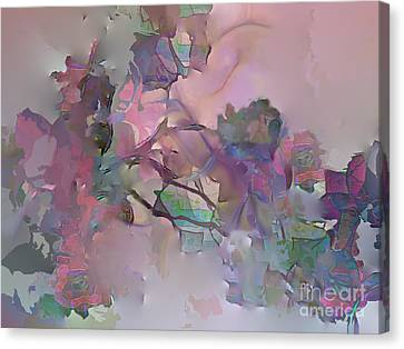 Canvas Print featuring the digital art Dreaming Of A Rose Garden by Ursula Freer