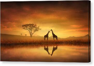 Dreaming Of Africa Canvas Print by Jennifer Woodward
