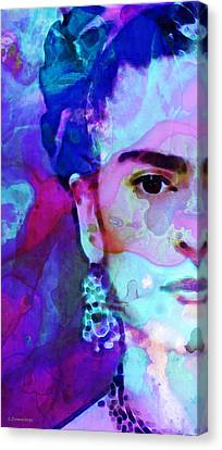 Canvas Print featuring the painting Dreaming Of Frida - Art By Sharon Cummings by Sharon Cummings