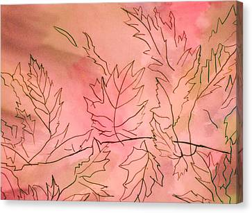 Dreaming Of Leaves Canvas Print by Anne-Elizabeth Whiteway