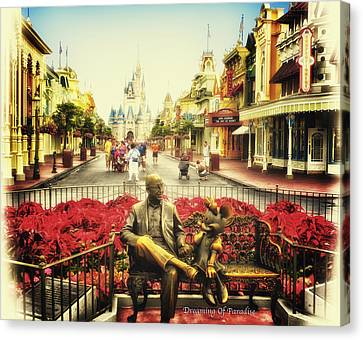 Dreaming Of Paradise Walt Disney World Canvas Print by Thomas Woolworth