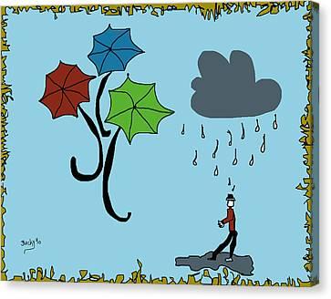 Dreaming Of Umbrellas Canvas Print