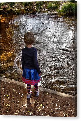 Canvas Print featuring the photograph Dreaming On Water by Lanita Williams