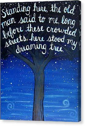 Dmb Canvas Print - Dreaming Tree Lyric Art by Michelle Eshleman