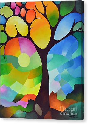 Dreaming Tree Canvas Print by Sally Trace