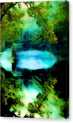 Canvas Print featuring the digital art Dreamland by Catherine Lott