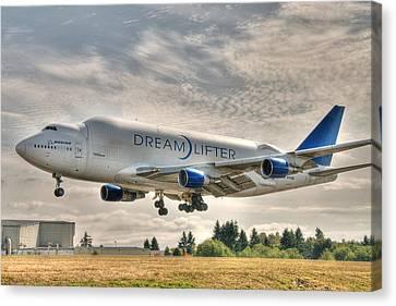 Dreamlifter Landing 1 Canvas Print by Jeff Cook