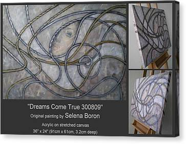 Canvas Print featuring the painting Dreams Come True 300809 by Selena Boron