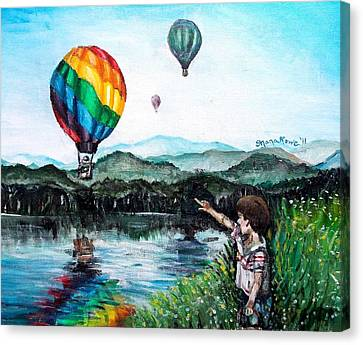 Canvas Print featuring the painting Dreams Do Come True by Shana Rowe Jackson