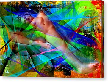Canvas Print featuring the digital art Dreams In Color by Rafael Salazar