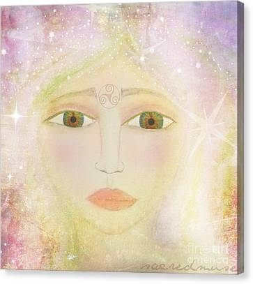 Tripple Canvas Print - Dreams Of Avalon Tipple Goddess Guinevere  by Sacred  Muse